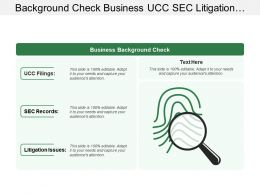 Background Check Business Ucc Sec Litigation With Magnifying Glasses Image