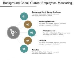 Background Check Current Employees Measuring Retention Promoter Score Cpb