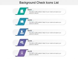 Background Check Icons List