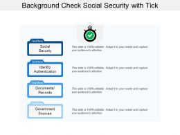Background Check Social Security With Tick