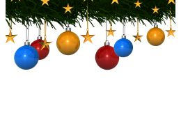 Background Designed With Christmas Decorative Balls And Stars Stock Photo