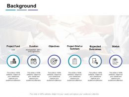 Background Expected Outcomes Ppt Powerpoint Presentation Infographic Images
