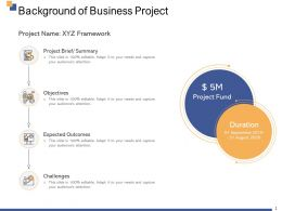 Background Of Business Project Ppt Powerpoint Presentation Visual Aids