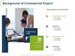 Background Of Commercial Project Ppt Powerpoint Presentation Model