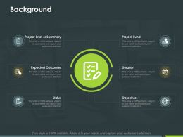 Background Status Ppt Powerpoint Presentation Infographics Outfit
