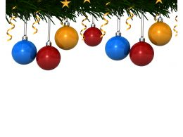 Background With Christmas Decorative Balls Stock Photo