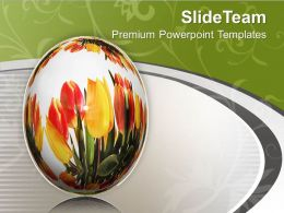 Background With Graphics Of Egg And Flowers PowerPoint Templates PPT Themes And Graphics 0513