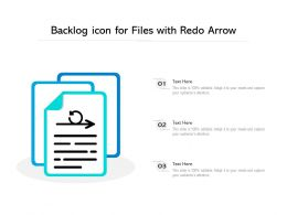 Backlog Icon For Files With Redo Arrow