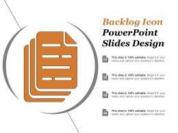 Backlog Icon Powerpoint Slides Design