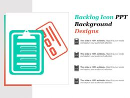 Backlog Icon Ppt Background Designs