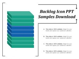 Backlog Icon Ppt Samples Download
