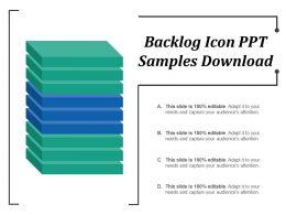 Backlog Icon Ppt Samples Download