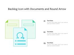 Backlog Icon With Documents And Round Arrow