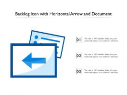 Backlog Icon With Horizontal Arrow And Document