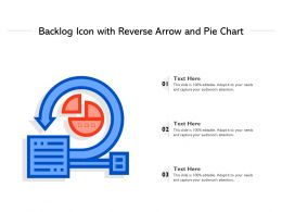 Backlog Icon With Reverse Arrow And Pie Chart
