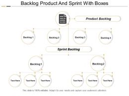 Backlog Product And Sprint With Boxes