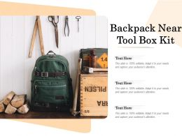 Backpack Near Tool Box Kit