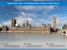 Backside View Of Westminster Palace Near River
