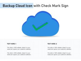 Backup Cloud Icon With Check Mark Sign