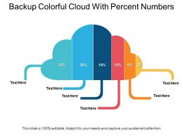 Backup Colorful Cloud With Percent Numbers