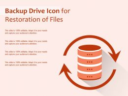 Backup Drive Icon For Restoration Of Files