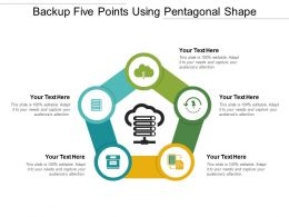 Backup Five Points Using Pentagonal Shape