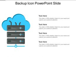 Backup Icon Powerpoint Slide