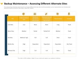 Backup Maintenance Assessing Different Alternate Sites Mirrored Ppt Presentation Portfolio