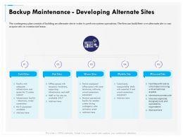 Backup Maintenance Developing Alternate Sites Mobile Ppt File Aids