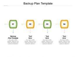 Backup Plan Template Ppt Powerpoint Presentation Ideas Graphics Tutorials Cpb