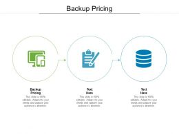 Backup Pricing Ppt Powerpoint Presentation Infographic Template Graphics Cpb