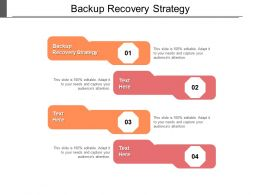 Backup Recovery Strategy Ppt Powerpoint Presentation Show Format Ideas Cpb