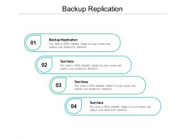 Backup Replication Ppt Powerpoint Presentation Slides Ideas Cpb