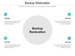 Backup Restoration Ppt Powerpoint Presentation Professional Graphics Cpb