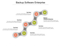 Backup Software Enterprise Ppt Powerpoint Presentation Layouts Graphics Tutorials Cpb
