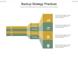 Backup Strategy Practices Ppt Powerpoint Presentation Gallery Outfit Cpb