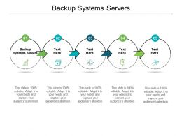Backup Systems Servers Ppt Powerpoint Presentation Ideas Information Cpb