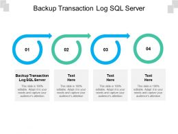 Backup Transaction Log SQL Server Ppt Powerpoint Presentation Infographic Template Graphics Tutorials Cpb