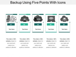 Backup Using Five Points With Icons