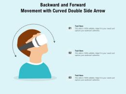 Backward And Forward Movement With Curved Double Side Arrow