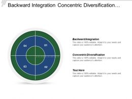 Backward Integration Concentric Diversification Customer Centered Strategy Progressive Service