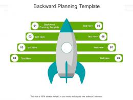 Backward Planning Template Ppt Powerpoint Presentation Model Graphic Tips Cpb