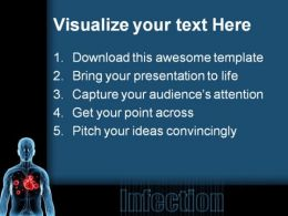 Bacteria Infection Medical PowerPoint Background And Template 1210