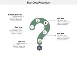 Bad Cost Reduction Ppt Powerpoint Presentation File Backgrounds Cpb