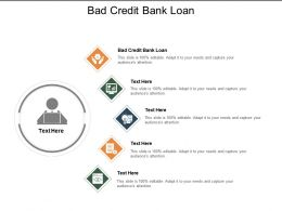 Bad Credit Bank Loan Ppt Powerpoint Presentation Pictures Background Images Cpb