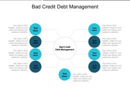 Bad Credit Debt Management Ppt Powerpoint Presentation Icon Summary Cpb