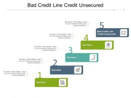 Bad Credit Line Credit Unsecured Ppt Powerpoint Presentation File Graphics Example Cpb