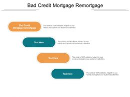 Bad Credit Mortgage Remortgage Ppt Powerpoint Presentation Outline File Formats Cpb