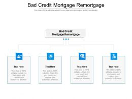 Bad Credit Mortgage Remortgage Ppt Powerpoint Presentation Professional Backgrounds Cpb