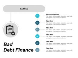 Bad Debt Finance Ppt Powerpoint Presentation Gallery Example File Cpb